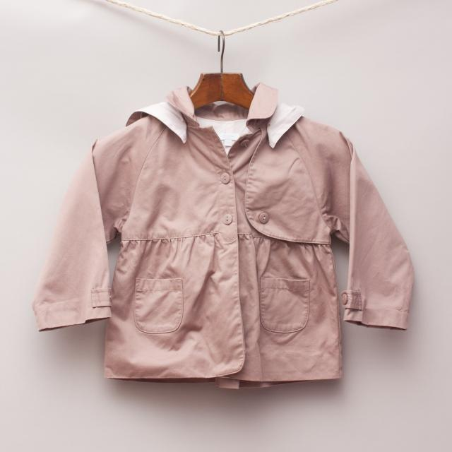 Jacadi Brown and Pink Jacket