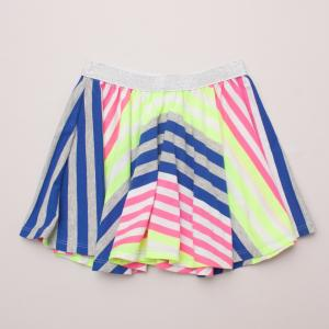 Seed Fluro Striped Skirt