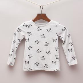 H&M Butterfly Long Sleeve Top