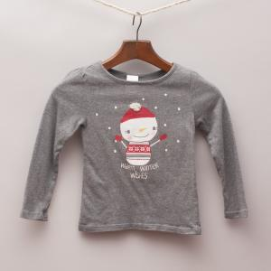 Gymboree Snowman Long Sleeve Top