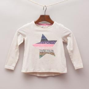 H&M Sequin Star Long Sleeve Top