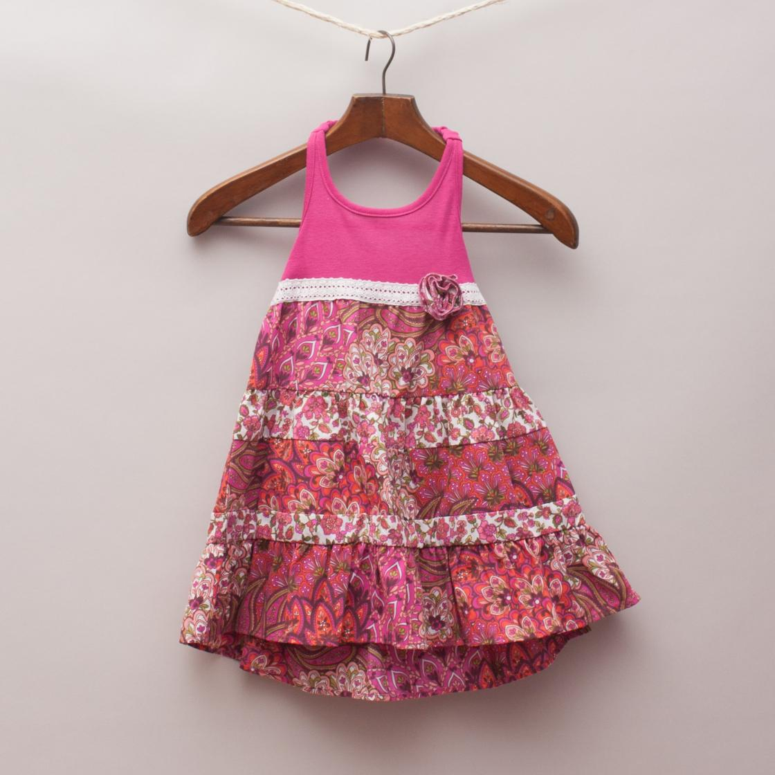 Pinky Halter neck Dress