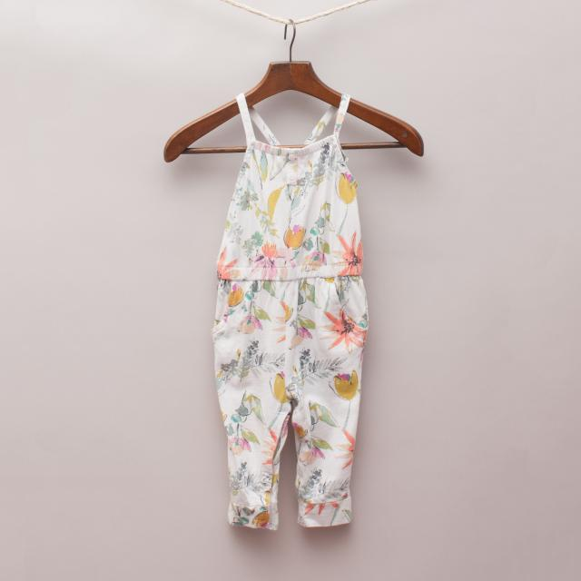 Old Navy Floral Jumpsuit