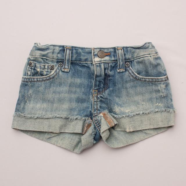 Ralph Lauren Distressed Denim Shorts