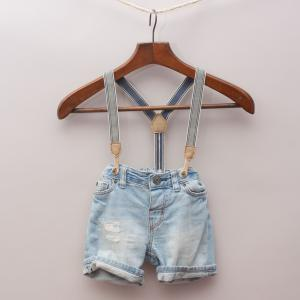 H&M Suspender Shorts