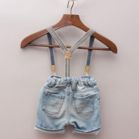 H&M Suspender Shorts