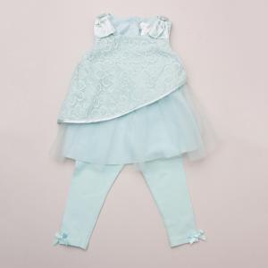 Lavender Formal Dress and Leggings Set