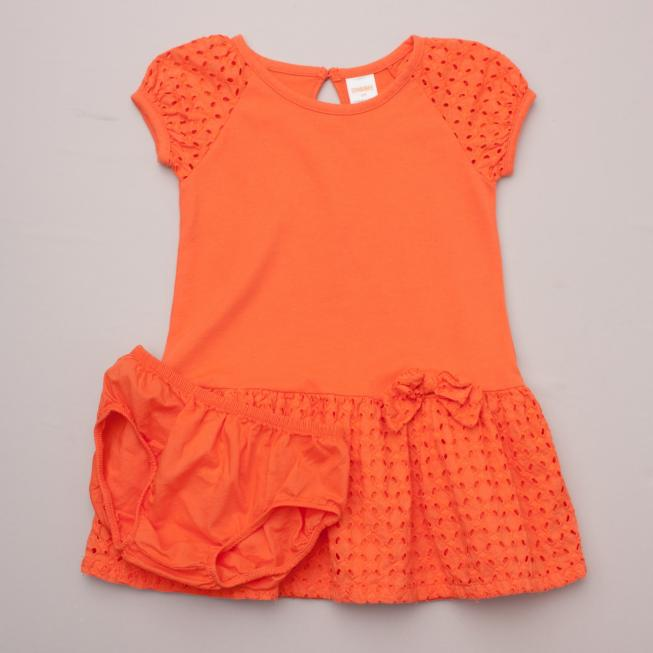 Gymboree Orange Dress & Bloomers