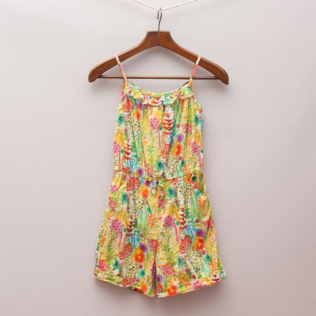 Oscar de la Renta Colourful Romper