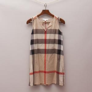 Burberry Sheer Check Dress