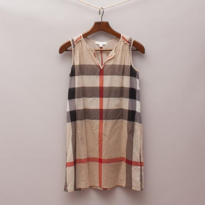 Burberry Sheer Check Dress