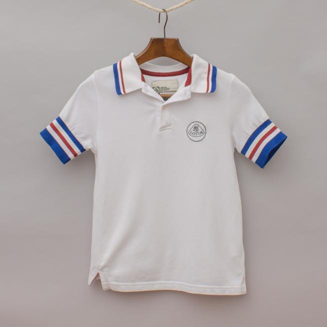 Lotus Striped Polo Shirt