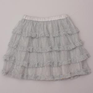 Old Navy Silver Ruffle Skirt