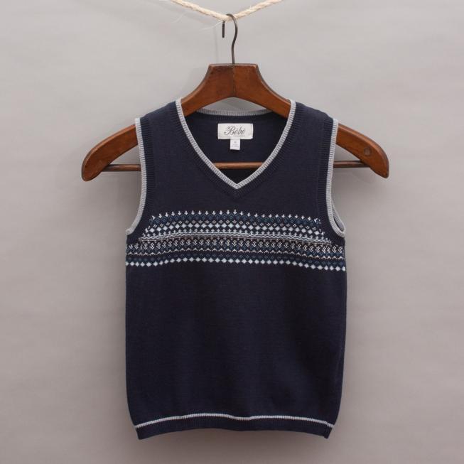 Bebe Detailed Knitted Vest