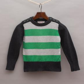 Petit De Nimes Striped Jumper