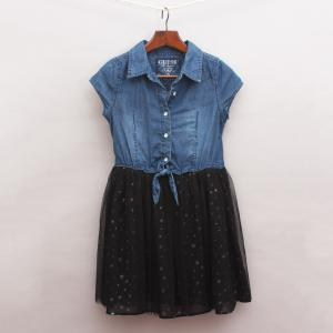 Guess Denim and Tulle Dress