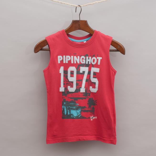 Piping Hot Sleeveless T-Shirt