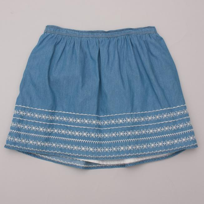 Just Jeans Embroidered Skirt