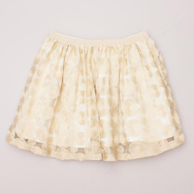 Country Road Gold Detailed Skirt