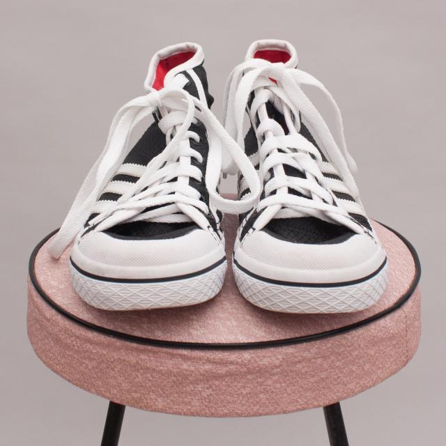 Adidas Black & White Lace Ups - US5