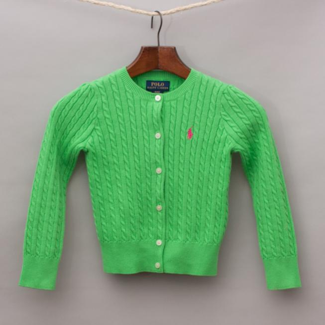 Ralph Lauren Green Cardigan