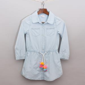 Seed Light Blue Shirt Dress