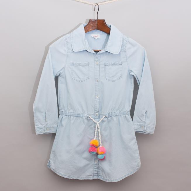 Seed Light Blue Shirt Dress
