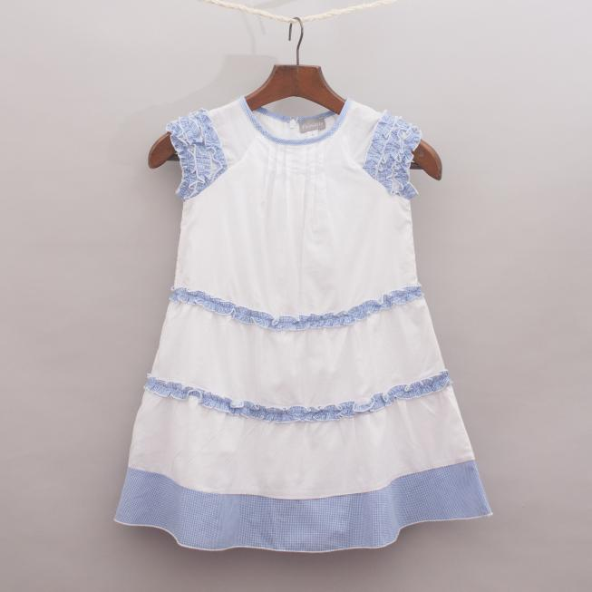 Alouette Gingham Ruffle Dress