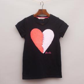 Ghanda Sequin Heart T-Shirt