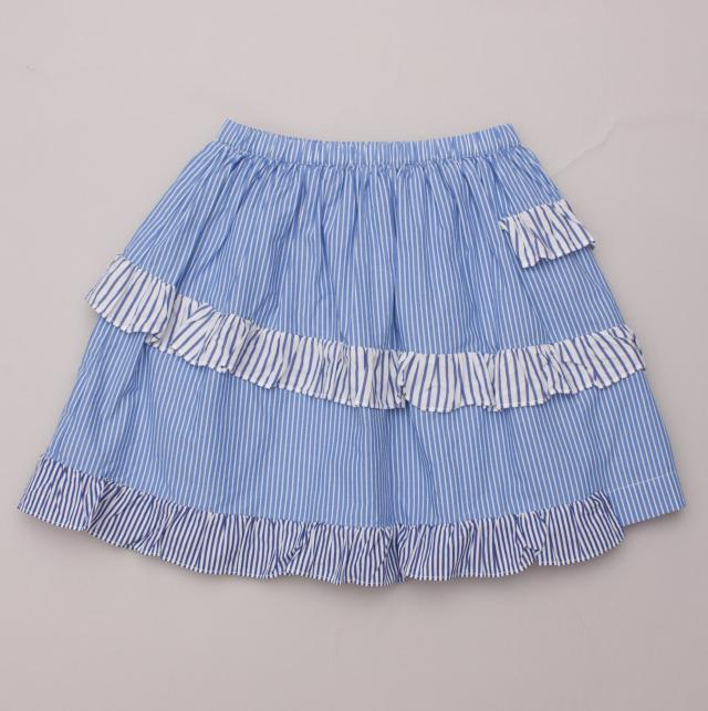 Crewcuts Striped Ruffle Skirt