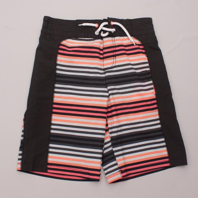 H&M Striped Board Shorts
