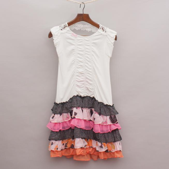 Deux par Deux Ruffled Dress