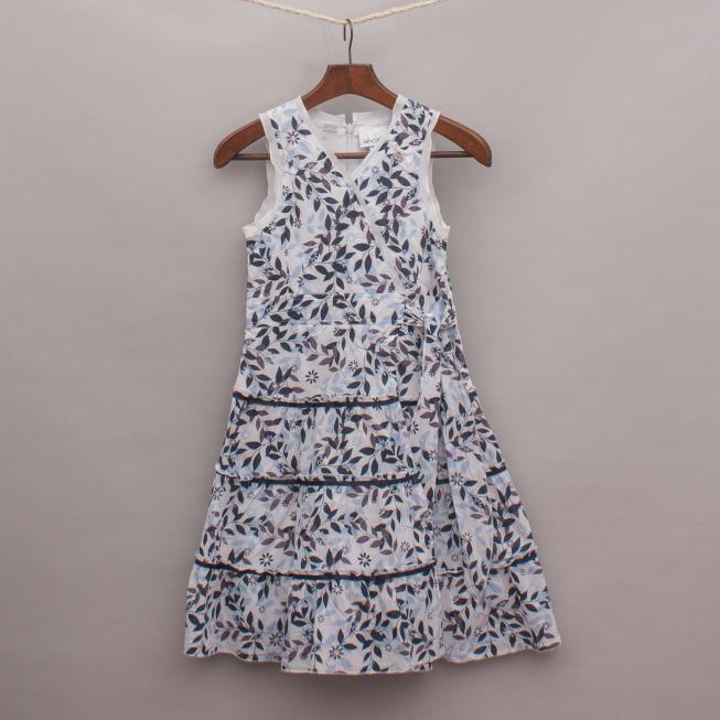 Le Chic Leaf Print Dress