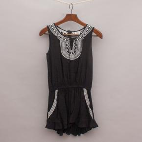 Seed Embroidered Romper