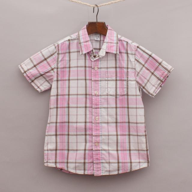 Zara Checked Short Sleeve Shirt