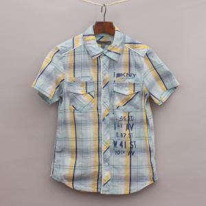 DKNY Checked Short Sleeve Shirt