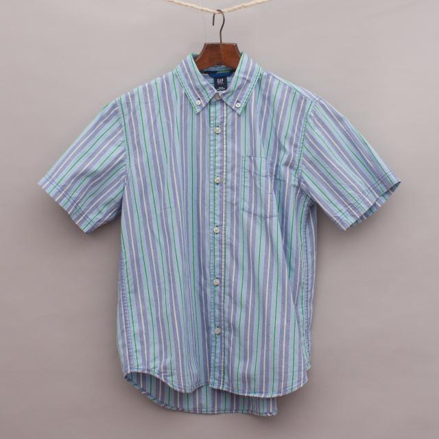 Gap Striped Short Sleeve Shirt