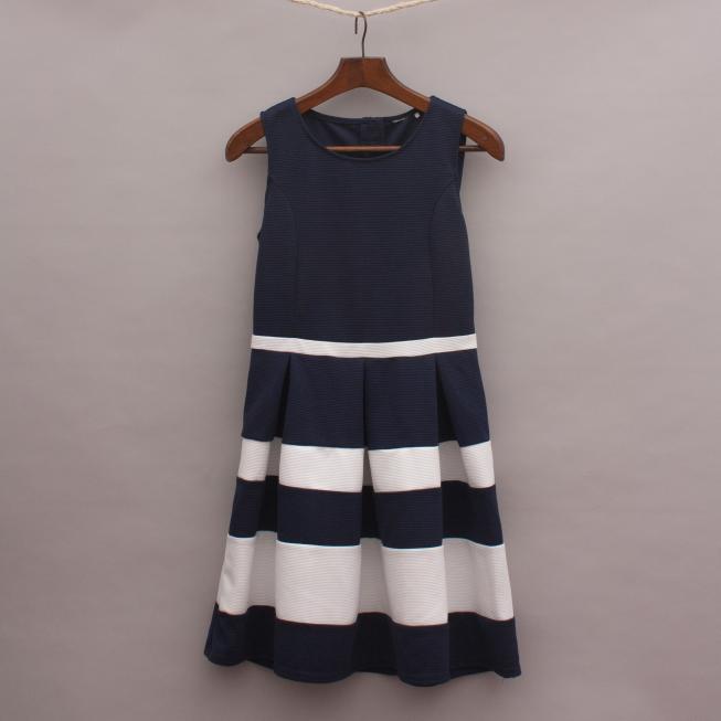 Navy Blue & White Nautical Dress