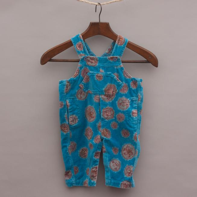 Oilily Velour Overalls