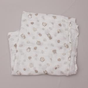 Little Linen Owl Muslin Wrap