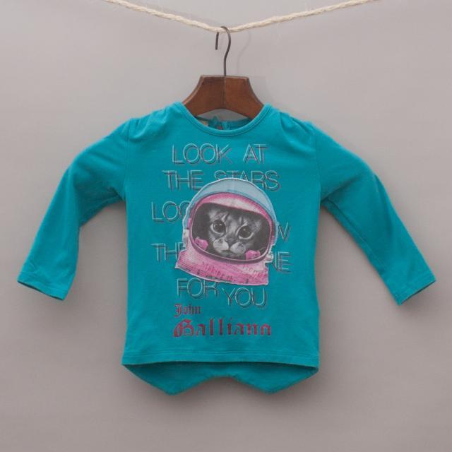 John Galliano Space Cat Long Sleeve