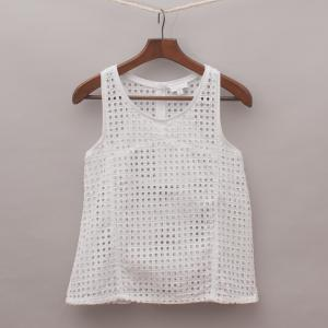 Witchery White Detailed Singlet Top