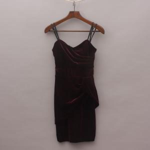 Bardot Velvet Drape Dress