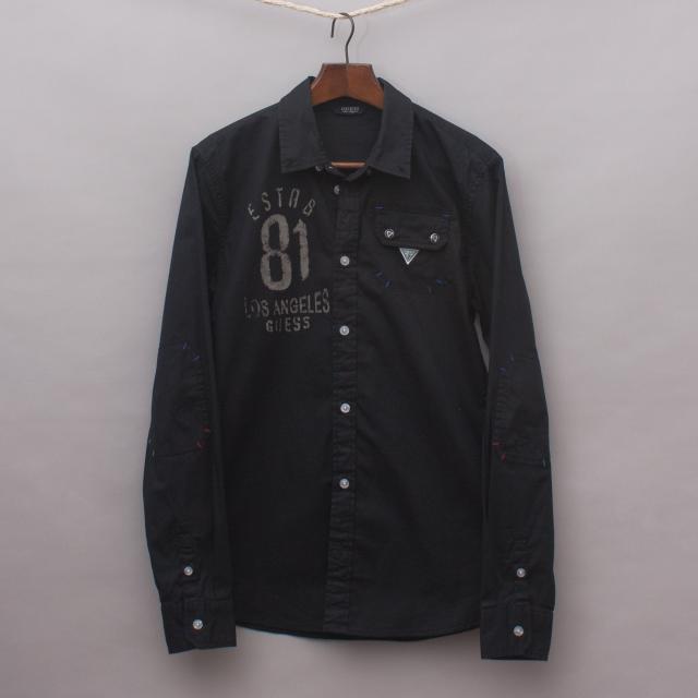 Guess Black Detailed Shirt