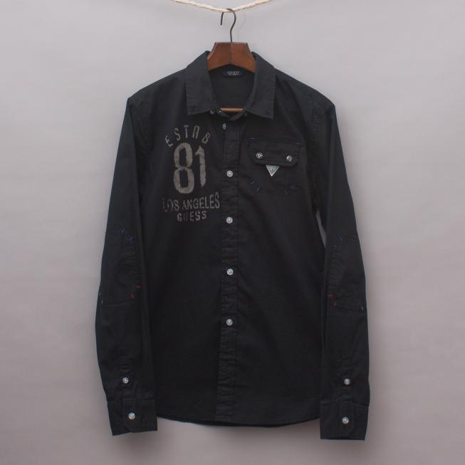 Guess Black Detailed Shirt