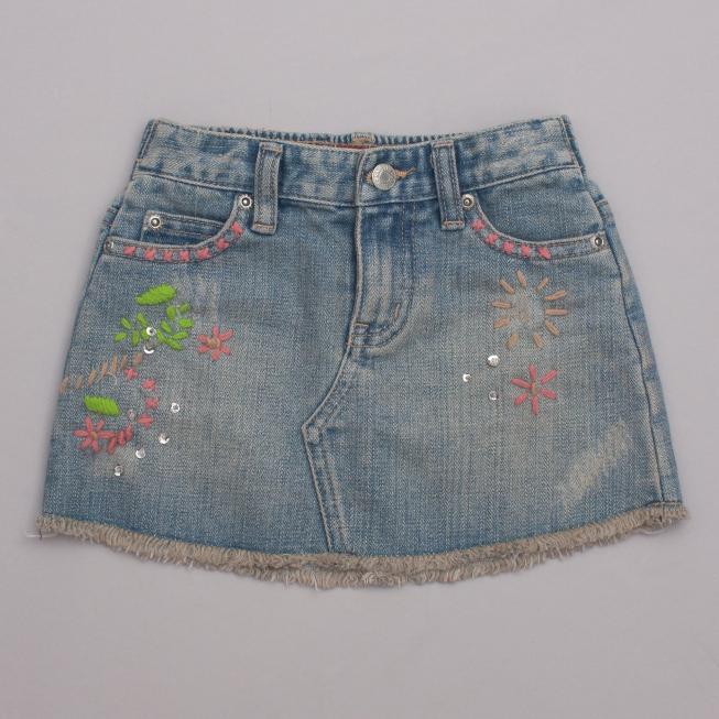 Guess Embellished Denim Skirt