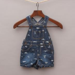 The Children's Place Dinosaur Overalls