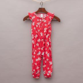 Carters Floral Jumpsuit