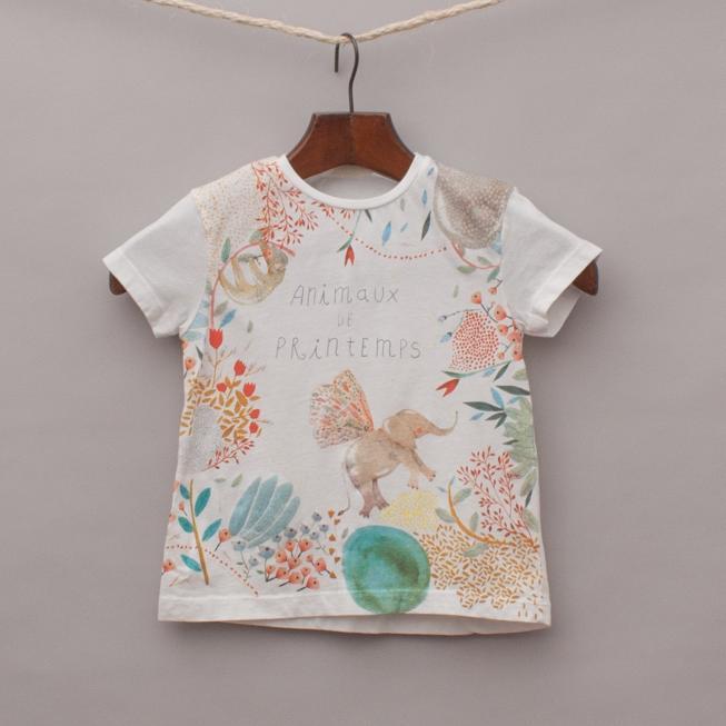 Zara Embellished Animal T-Shirt