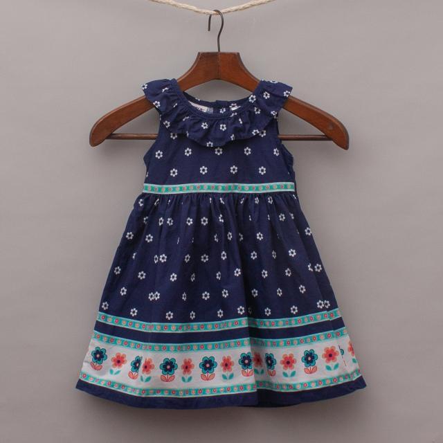 Blueberi Boulevard Floral Dress